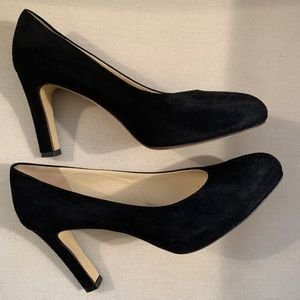 ❤️Amalfi Black Suede Leather Pumps Made in Italy 7